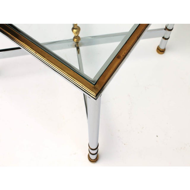 Petite Brass & Steel Side Table - Image 7 of 8