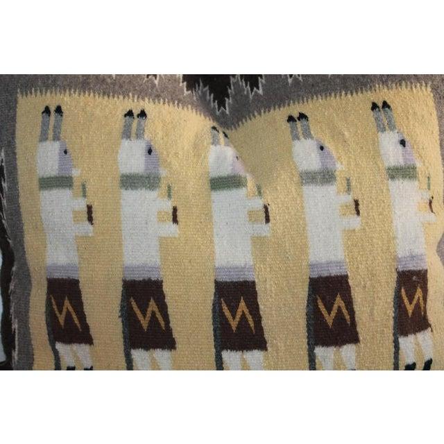 Folk Art Yea Navajo Indian Weaving Pillow For Sale - Image 3 of 7