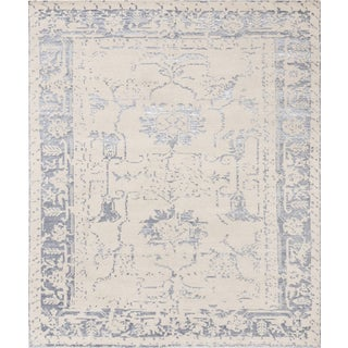 Pasargad's Silk Fusion Silk & Wool Rug- 5' X 8' For Sale
