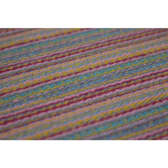 Flat Weave Wool Striped Pink Kilim Rug - 2'8'' x 7'6'' - Image 6 of 9