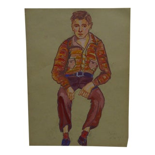 """""""The Dandy"""" Original Painting on Paper"""