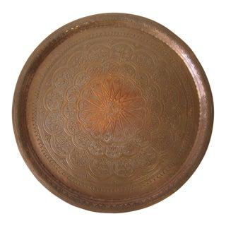 1960s Moroccan Copper Tray For Sale