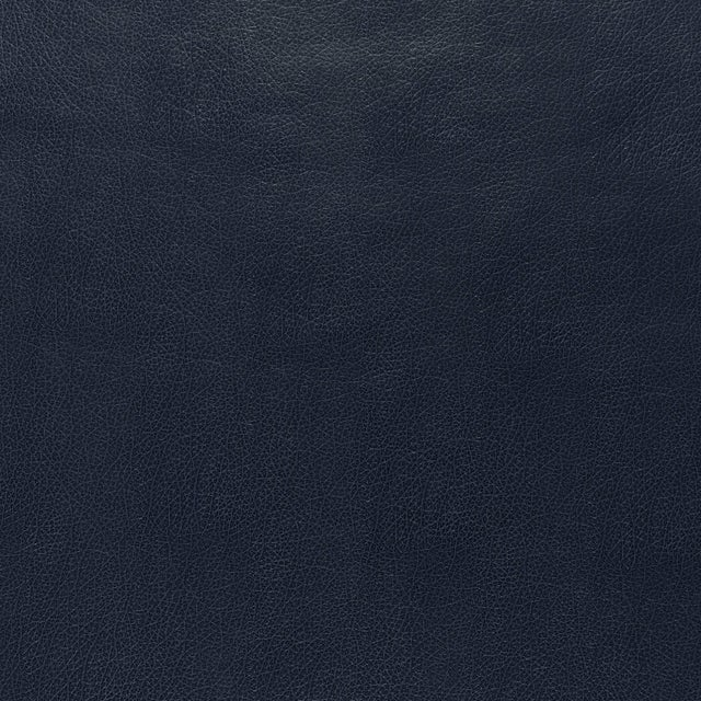 Contemporary Sample - Schumacher Canyon Leather Wallpaper in Navy For Sale - Image 3 of 3