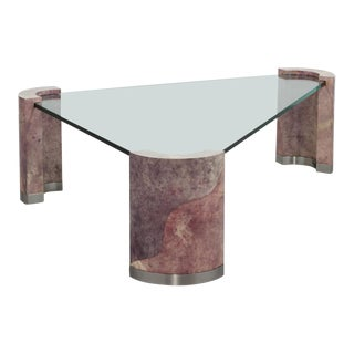 Karl Springer Style Coffee Table 1980s
