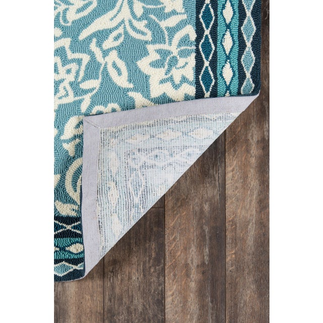 Transitional Madcap Cottage Under a Loggia Rokeby Road Blue Indoor/Outdoor Area Rug 5' X 8' For Sale - Image 3 of 5
