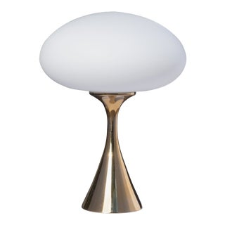 Mushroom Table Lamp in Polished Brass by Bill Curry for Laurel Lamp Company For Sale