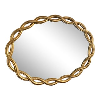 Late 20th Century Ethan Allen Italian Gold Gilt Mirror For Sale