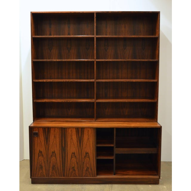 Mid-Century Modern Danish Rosewood Bookcase For Sale In Austin - Image 6 of 10