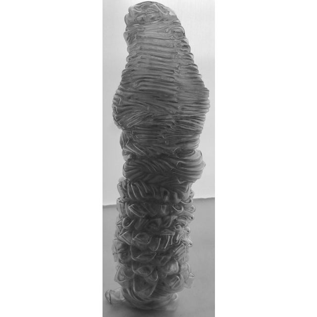 Large free form sculpture, dating from the 1960's. This one is made of extruded polymer and is gently stacked layer on...