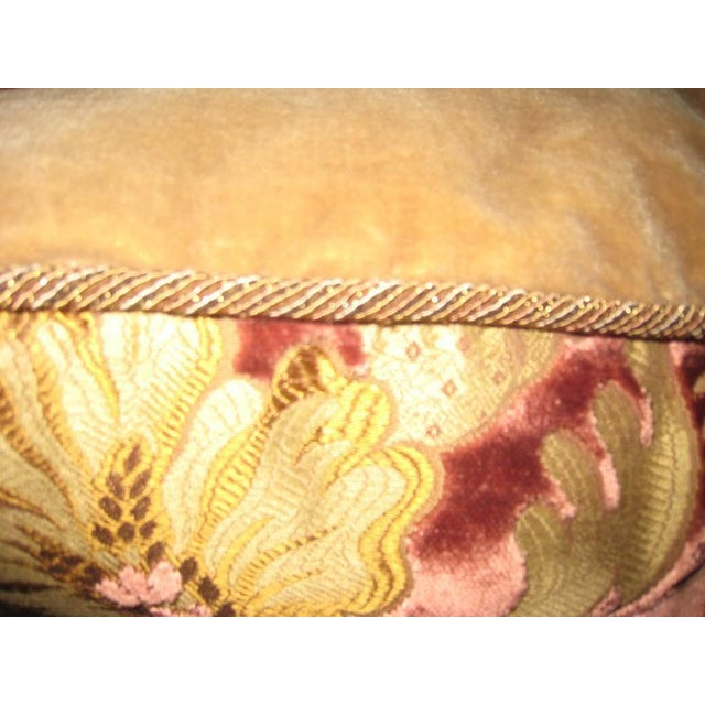 Early 21st Century Traditional Janet Yonati Silk Velvet Pillows - a Pair For Sale - Image 5 of 12