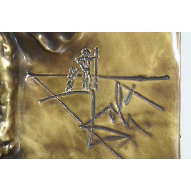 Metal 1979 Salvador Dali Christ of Saint John of the Cross Bas Relief Bronze Plaque For Sale - Image 7 of 13