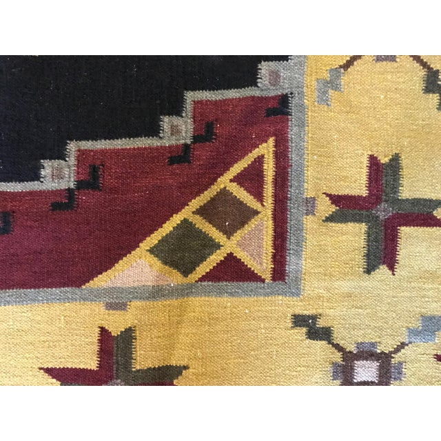 "Vintage Indian Dhurrie Kilim Rug - 8' x 10'2"" - Image 8 of 11"