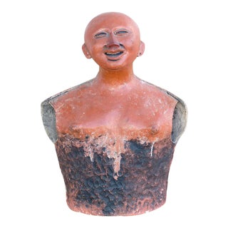20th Century Pre-Colombian Influenced Terracotta Sculpture by Jorge Marin For Sale