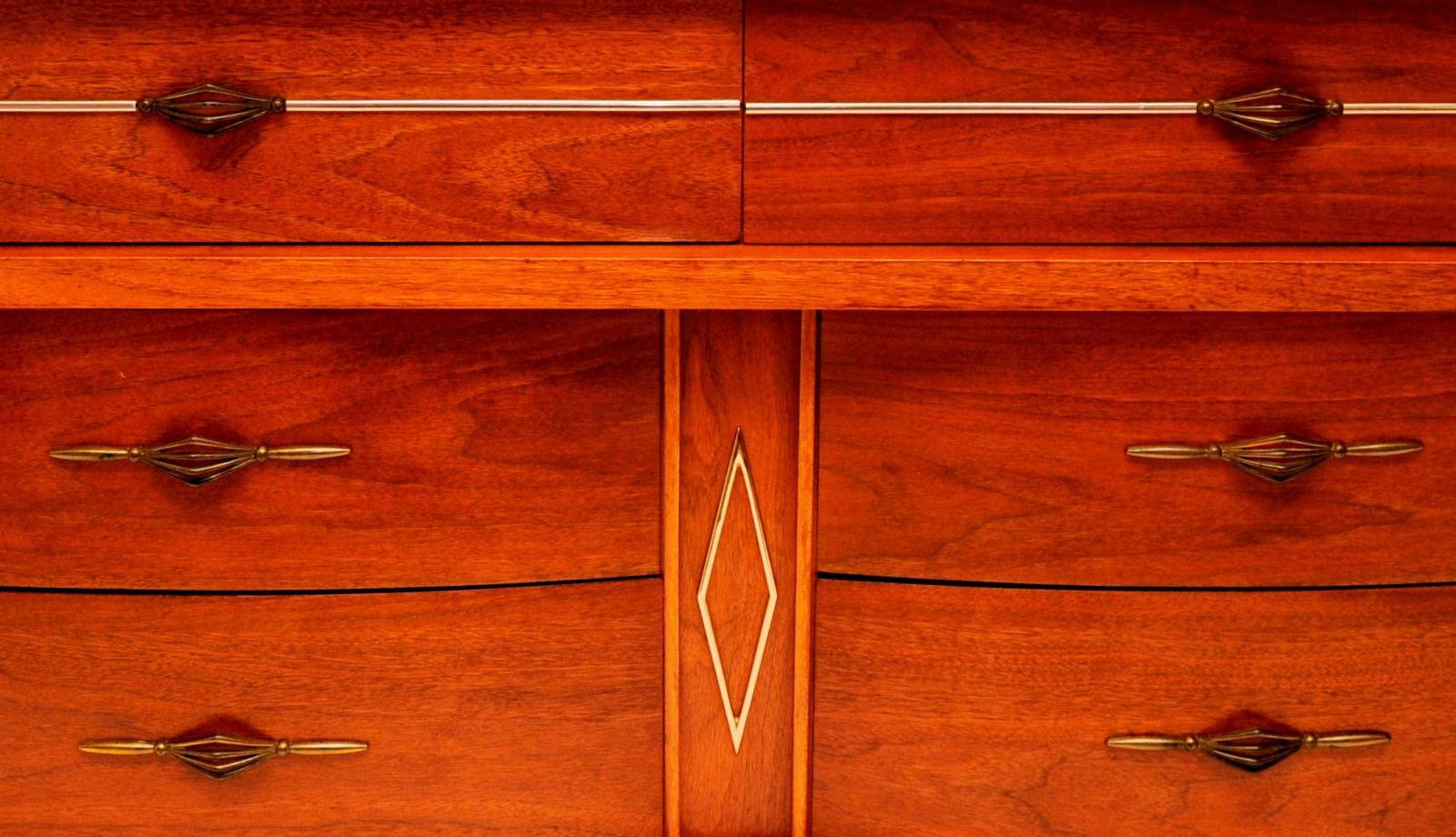 Mid Century Modern Mid Century Harmony House 6 Drawer Credenza Dresser For  Sale