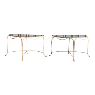 Midcentury French Demilune Garden Tables For Sale