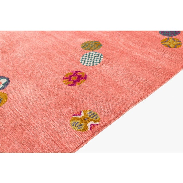 Asian Carini Wool and Silk Rug- 3′ × 6′ For Sale - Image 3 of 9