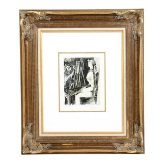 Pablo Picasso Lithograph in Gilt Wood Frame For Sale