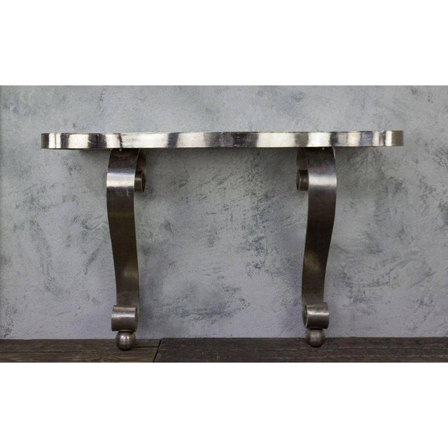 French Polished Steel Console - Image 2 of 11