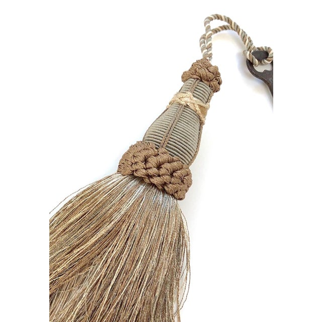 2010s Key Tassel in Khaki and Bronze With Ruche Trim For Sale - Image 5 of 10