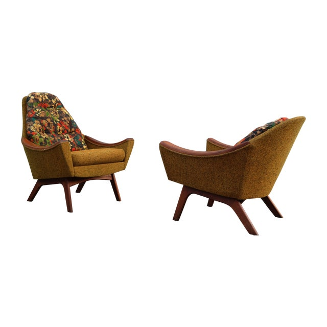 Adrian Pearsall His and Hers Lounge Chairs - Pair For Sale