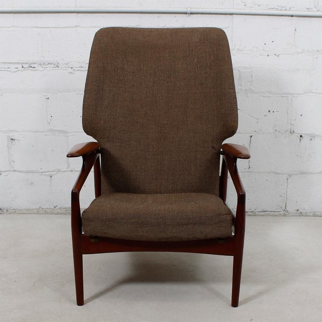Finn Juhl Reclining Wingback Chair For Sale - Image 5 of 10