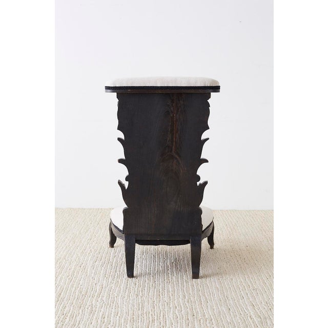 French Napoleon III Oak Prie-Dieu Prayer Chair For Sale - Image 12 of 13