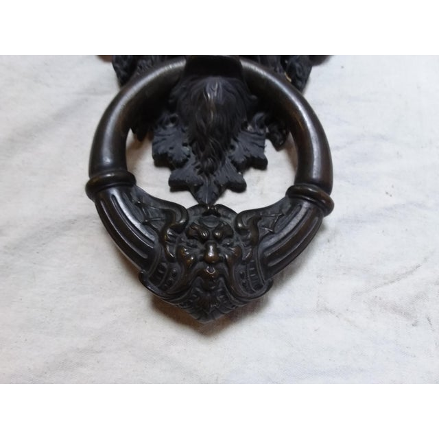 Bronze Mythical Creature Door Knocker For Sale - Image 5 of 6