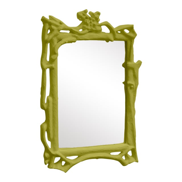 Stray Dog Designs for Chairish Magalie Mirror, Parakeet Green For Sale