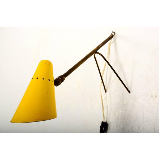 Yellow French Cocote Table or Wall Lamp For Sale - Image 8 of 9
