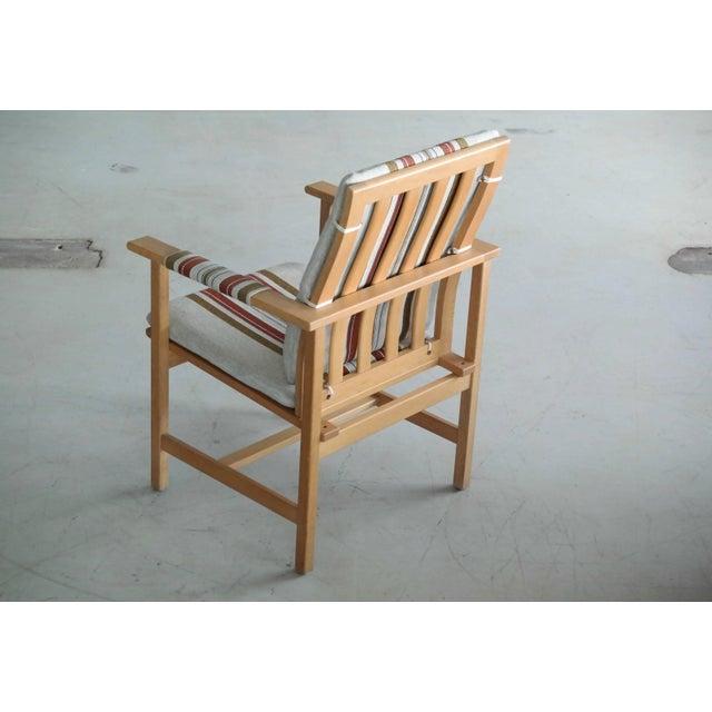 Gold 1960s Børge Mogensen Model 2257 Oak Lounge Chair for Fredericia Stolefabrik For Sale - Image 8 of 11