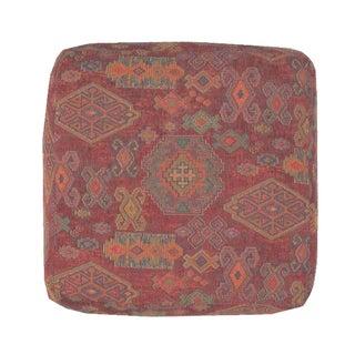 Ottoman with Kilim Style Fabric