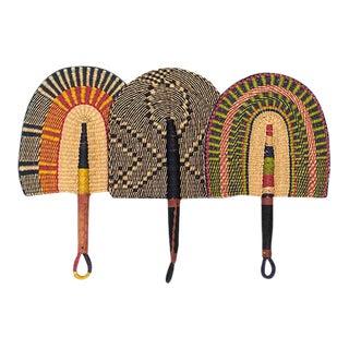 Ghanan Handwoven Bolga Fan Trio