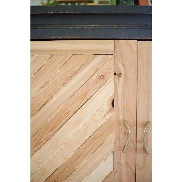 Antique Letterpress Cedar Cabinet - Image 5 of 11