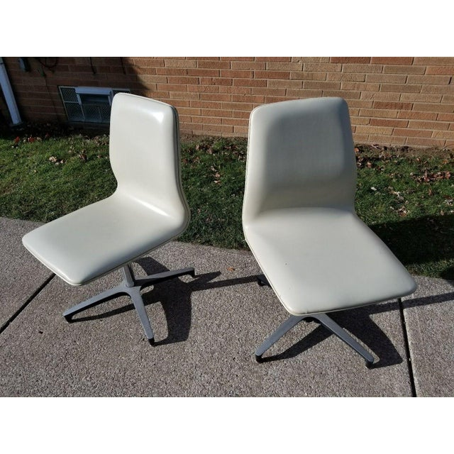 MCM Chromcraft Vinyl Swivel Chairs - a Pair For Sale - Image 11 of 11