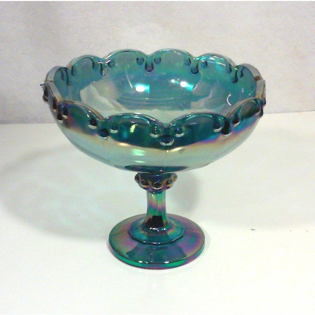 Peacock Lustre Glass Compote - Image 4 of 4