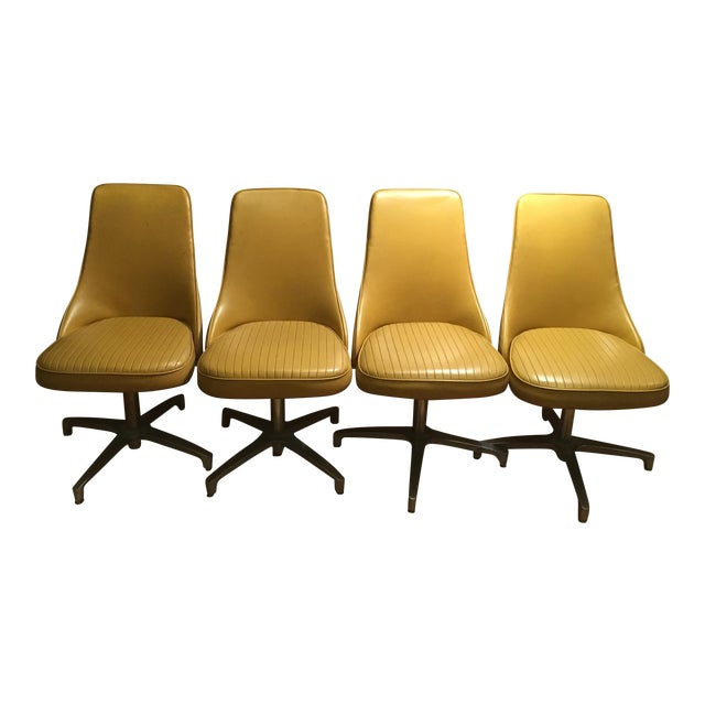 Vintage Mid-Century Modern Chromantic '66 by Chromcraft Dining Swivel Chairs - Set of 4 For Sale