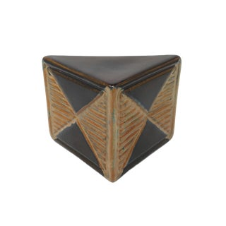 Vintage Jaru Ceramic Triangular Sculpture For Sale