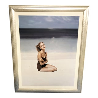 """Vogue Magazine Cover """"Woman On White Sand Beach"""" Artist-John Rawlings, July 1953 For Sale"""