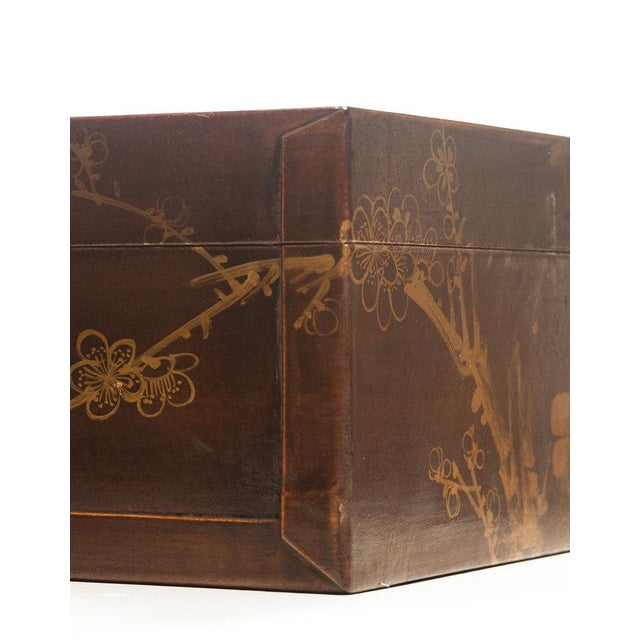 """2010s Lawrence & Scott Mahogany Meridian Leather Box ( 16.5"""") For Sale - Image 5 of 7"""