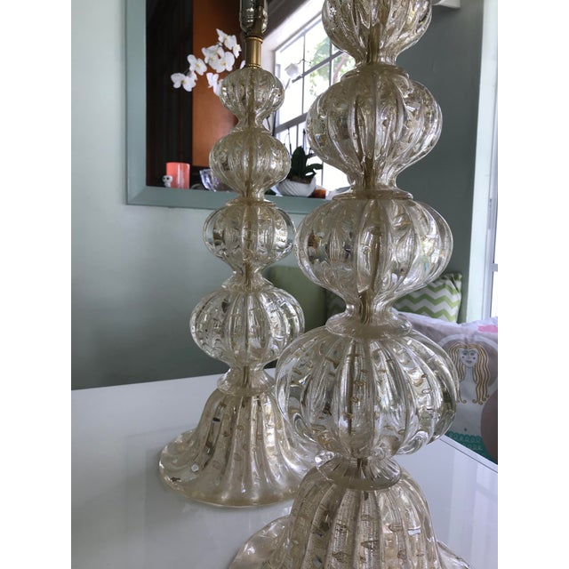 Contemporary Barbara Barry for Baker Murano Table Lamps - A Pair For Sale - Image 3 of 7