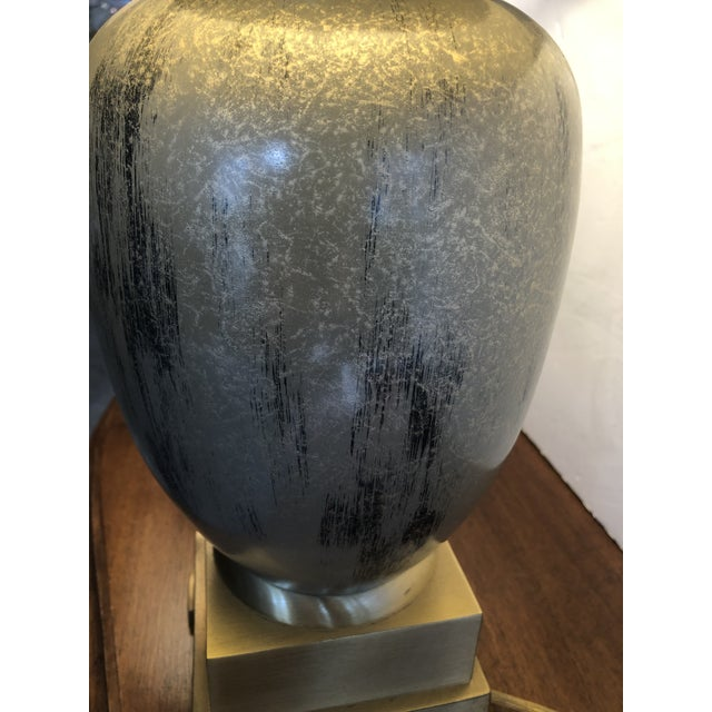 Enameled Brass Table Lamps - a Pair For Sale In Philadelphia - Image 6 of 10