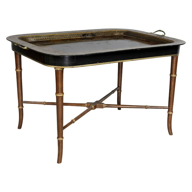 Regency Papier Mâché Tray Top Coffee Table For Sale - Image 13 of 13