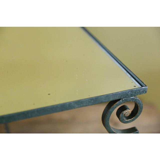 Set Three French Mirrored-Top Iron Nesting Tables For Sale - Image 6 of 9