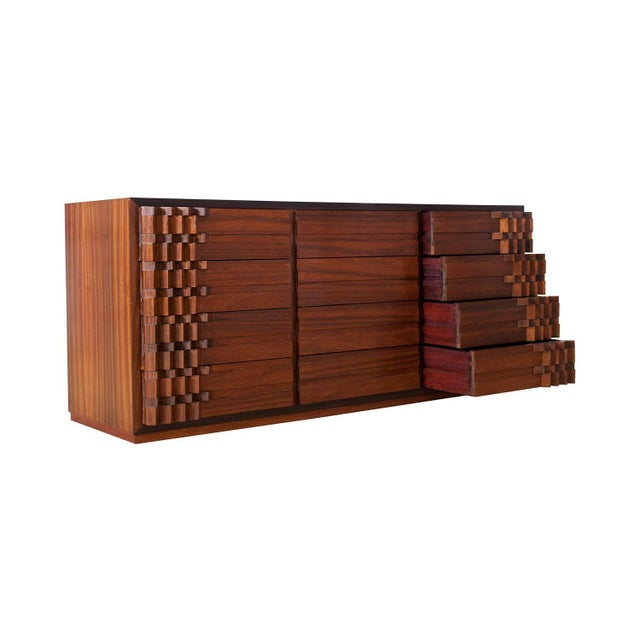 Luciano Frigerio Luciano Frigerio Chest of Drawers in Walnut For Sale - Image 4 of 12