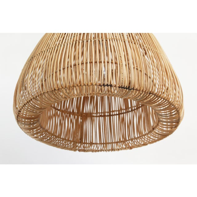 Contemporary Rattan Mushroom Lantern Small For Sale - Image 3 of 4