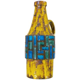 Mid-Century Modern Pottery Vase by Scheurich For Sale