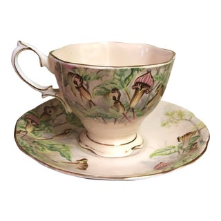 Vintage Royal Albert Jack in the Pulpit Teacup and Saucer — 2 Pieces For Sale