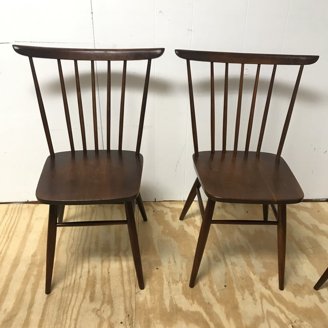 Mid-Century Modern American Studio Craft Solid Walnut Dining Set - 5 Pieces For Sale - Image 9 of 13