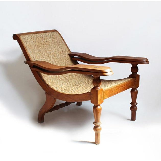 Colonial Teak & Cane Plantation Chair - Image 2 of 3