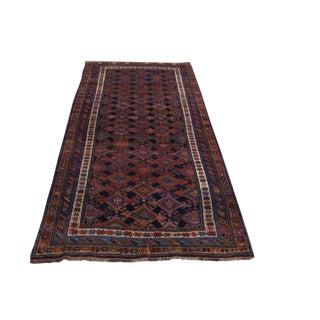 Vintage Brown & Burgundy Persian Veramin Wide Runner Rug - 5′2″ × 10′2″ For Sale